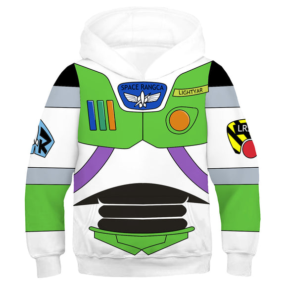 Kids Buzz Lightyear Hoodies Toy Story Pullover 3D Print Jacket Sweatshirt