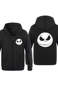 Men Nightmare Before Christmas Misfit Love Zip Up Hoodie