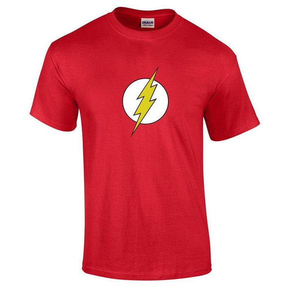 Unisex The Flash Tee Lightning Logo Printed Short Sleeve T-shirt