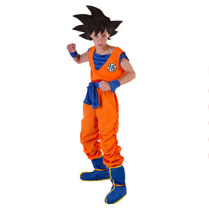 Kids Halloween Dragon Ball Costume Son Goku Suit Outfit Cosplay Costume Kung Fu Outfit