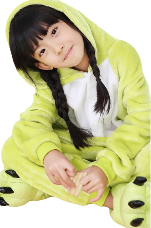 One-Piece Pajamas Unisex Costume Kids Frog Cosplay Plush Sleepwear