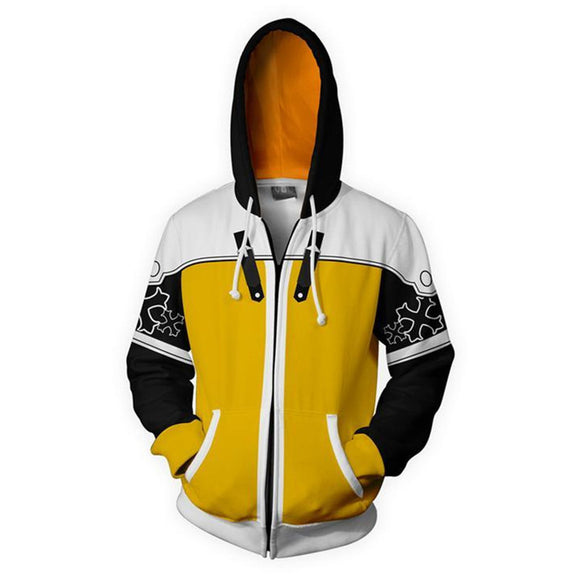 Unisex Riku Hoodies Kingdom Hearts Zip Up 3D Print Jacket Sweatshirt