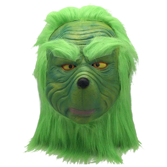 How the Grinch Stole Christmas Cosplay Mask The Grinch Green Mask Adult Latex Mask Christmas Party Props