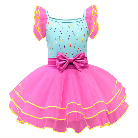 Girls Fancy Nancy Cosplay Dresses Halloween Costume Dress up Clothes (Full Set)