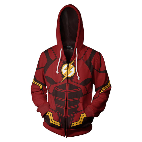 Unisex Hoodies The Flash Zip Up 3D Print Jacket Sweatshirt