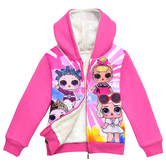 L.O.L Surprise dolls Coat with soft nap for Girls