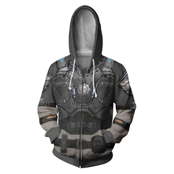 Unisex War Machine Hoodies Zip Up 3D Print Jacket Sweatshirt