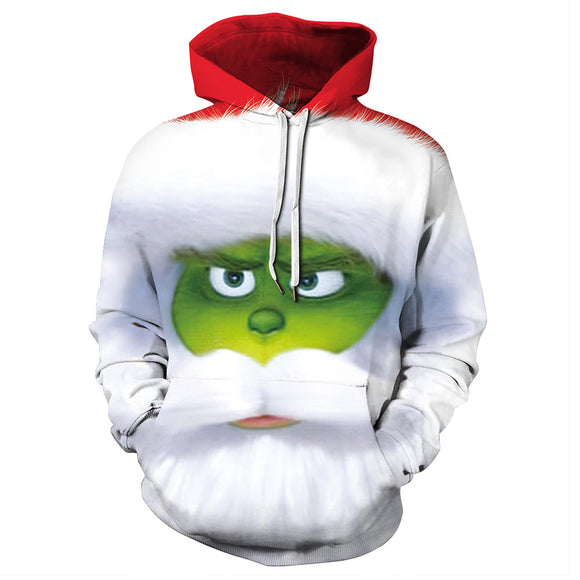 Grinch Christmas Costume Hoodie Sweatshirt Unisex Funny Hoodies How the Grinch Stole Christmas Jacket Coat