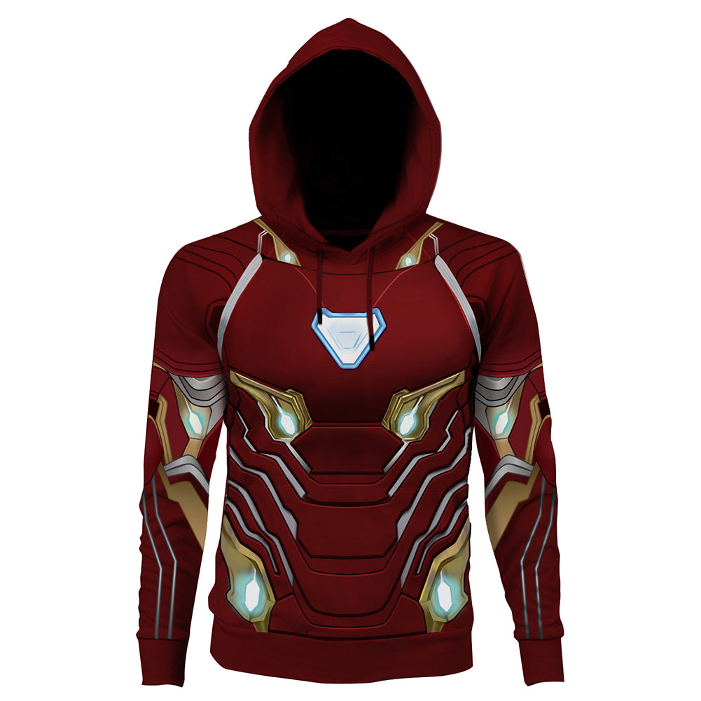 The Avengers Endgame Iron Man Cosplay Hoodie 3D Printed Thin Sports Jacket