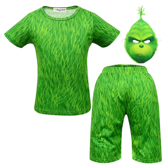 Boys Kids Summer Pj Set How the Grinch Stole Christmas Costume