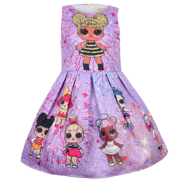 Girls L.O.L Surprise Dolls Printed Sleeveless Skirt Dress