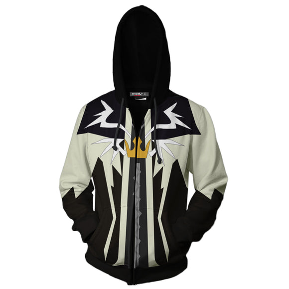 Unisex Hoodies Kingdom Hearts Zip Up 3D Print Jacket Sweatshirt