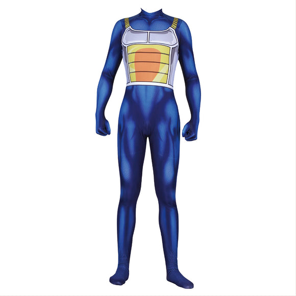 Dragon Ball Z Saiyan Vegeta Jumpsuit Halloween Cosplay Costume Battle Bodysuit