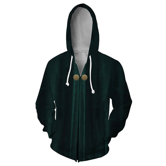 Unisex Minerva McGonagall Hoodies Harry Potter Zip Up 3D Print Jacket Sweatshirt