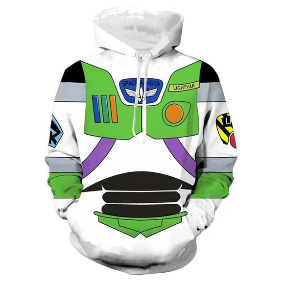 Unisex Buzz Lightyear Hoodies Toy Story 4 Pullover 3D Print Jacket Sweatshirt