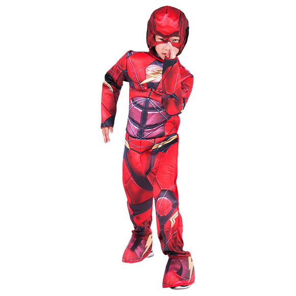 DC Comics Deluxe Muscle Chest The Flash Child's Costume Halloween Stage Outfit
