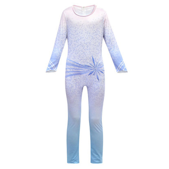 Kids Frozen 2 Elsa Jumpsuits Cosplay Costume Christmas Birthday Party Children's Performance Costume