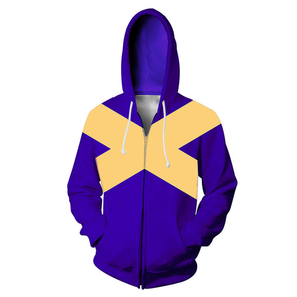 X-Men Dark Phoenix Costume Superhero Halloween Unisex Cosplay Zip Up Hoodie