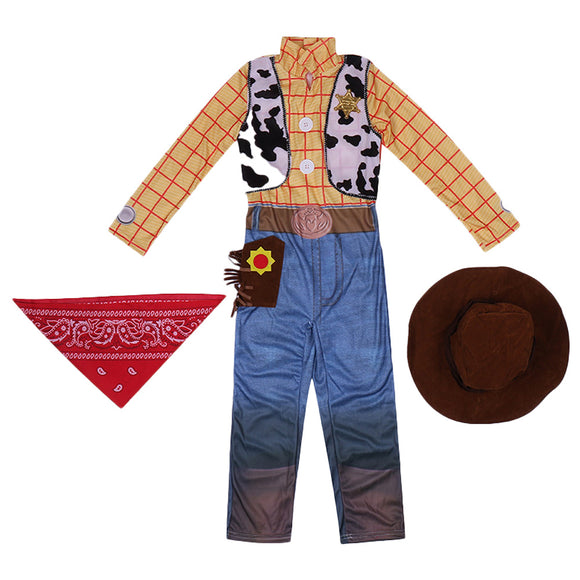 Boys Toy Story Woody Kids Child Fancy Dress Party Halloween Costume