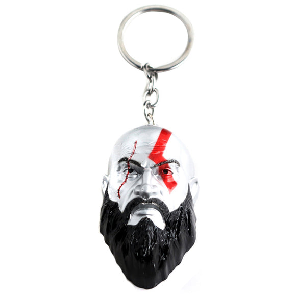 God of War Game Jewelry, Kratos and Kratos' Sword Model Keychain