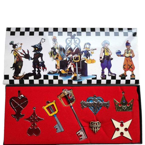 Kingdom Hearts Keys Keyblade Pendant Set Cosplay Accessories