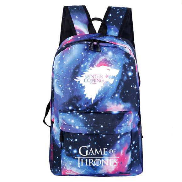 Game of Thrones Stark Sigil Cosplay Casual Bag Backpack