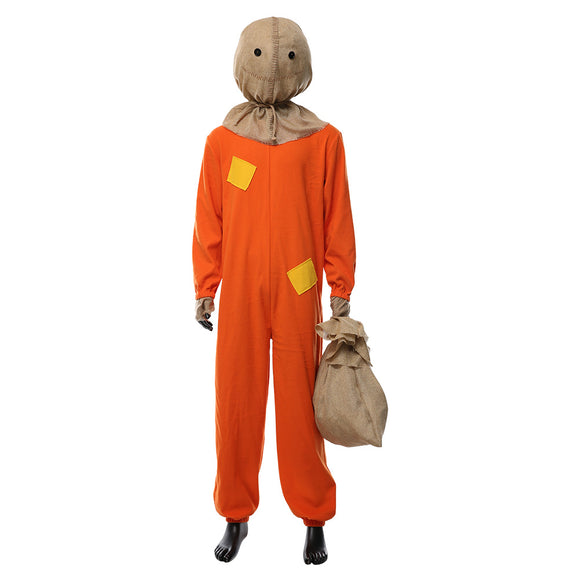 Adult Halloween Trick R Treat Sam The Demon Pumpkinhead Halloween Cosplay Costume