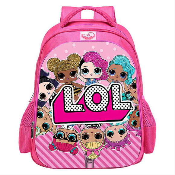 L.O.L Surprise Kids School Backpack Book Bag Baby Dolls Travel Bag