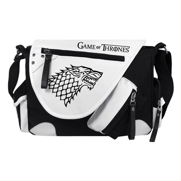 Game of Thrones Stark Direwolf Sigil Crossbody Messenger Bag Handbag Tote Bag Shoulder Bag