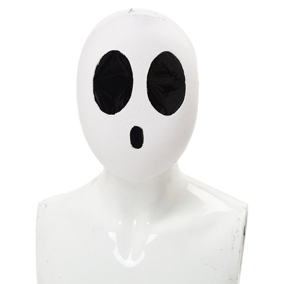 Super Mario Shy Guy Mask Deluxe Kawaii White Cosplay Props