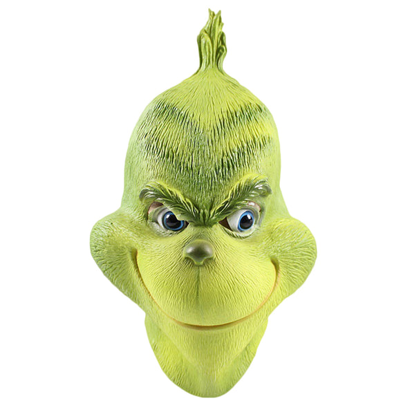 Grinch Mask Costume Christmas Accessory Deluxe Full Head Mask