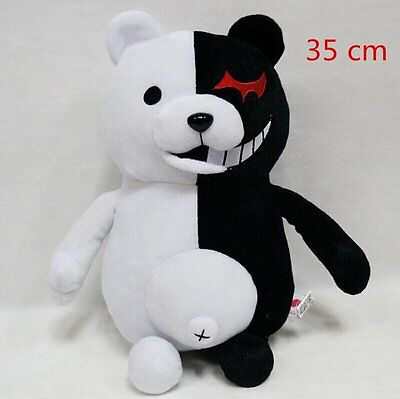 35cm Danganronpa 2 Mono Kuma Black&White Bear Plush Doll Stuffed Bear Toys