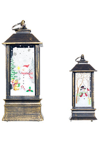 Christmas Holiday Table Centerpiece or Hanging Lantern Decoration