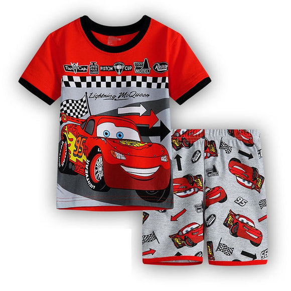 Boys Short PJ Set Cars lightning mcqueen Pattern 100% Cotton Home wear