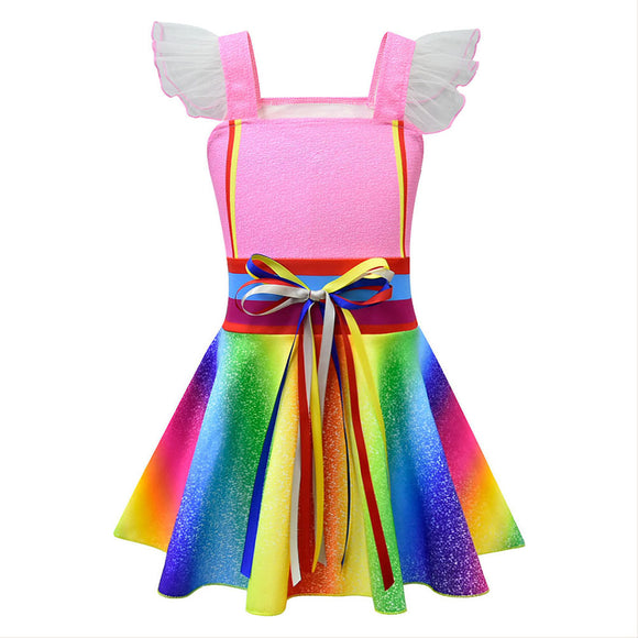 Fancy Nancy Cosplay Dresses Halloween Costume Dress up Clothes for Toddler Girls