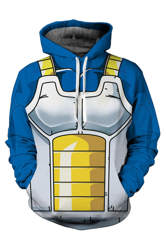 Unisex Saiyan Vegeta Hoodies Dragon Ball Z Pullover 3D Print Jacket Sweatshirt