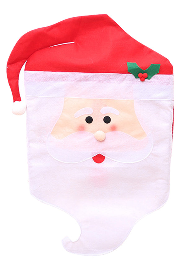 Christmas Decoration Red Santa Hat Chair Covers