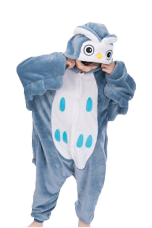 Kids Owl Pajamas Christmas Costume