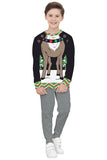 Boys Christmas Pullover 3D Digital Printed Long Sleeve Novelty Sweater