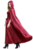 Women Christmas Long Dress for Little Red Riding Hood Cosplay Costume