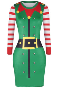 Women's Elf Santa Christmas Dress