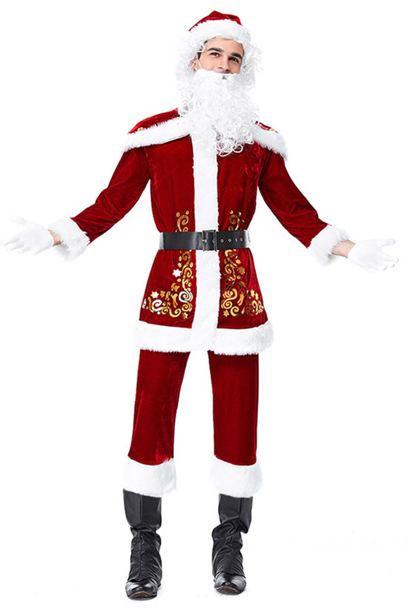 Adult Santa Claus Christmas Suit Costume Set Party Cosplay