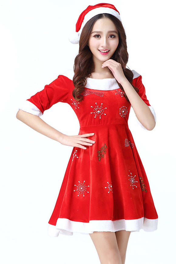Women Santa Claus Christmas Costume Cosplay Dress
