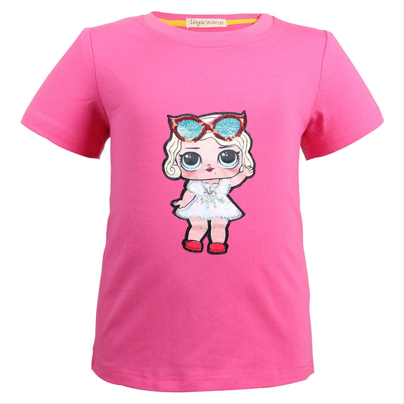 L.O.L. Surprise Doll Girls' Printed Short Sleeve T-Shirt