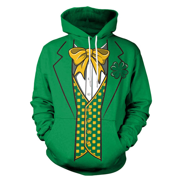 St Patrick's Day Unisex 3D Digital Print Pullover Hoodies Pockets Sweatshirt