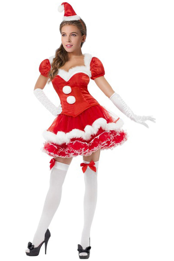 Women Christmas Mrs. Claus Costume Santa Costume