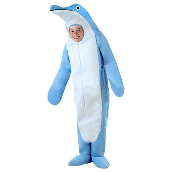 Kids Halloween Ocean Wonderful Animal Costumes Child Dolphin Costume Light Blue Cosplay Jumpsuits