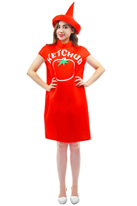 Christmas Ketchup Cosplay Costume for Adults