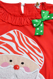 Girls 2pcs Long Pajamas Sleepwear Set Christmas Homewear Red