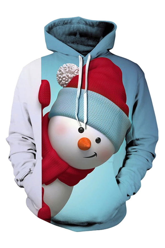 Unisex 3D Ugly Christmas Pattern Pullover Novelty Hoodies